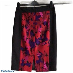 Frank Lyman Black and Floral Skirt
